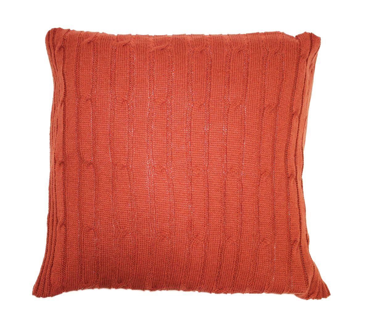 Подушка вязаная Proffi Home Косы, цвет: терракотовый, 40 х 40 смPH3671Материал: шерсть, полиэстер Длина: 40 см Ширина: 40 см Цвет: терракотовый