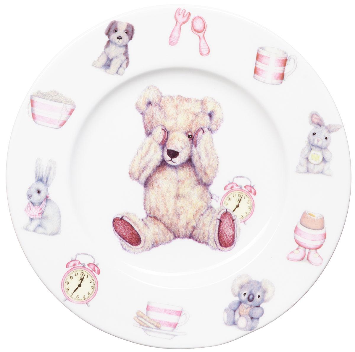 Roy Kirkham Тарелка Тедди тайм 19,5 см цвет розовый115510Яркая фарфоровая тарелка Тедди тайм превратит процесс кормления вашего малыша в веселую игру. Очаровательный образ медвежонка Тедди - воплощение английской классики. В коллекции детской посуды и подарочных аксессуаров Тедди тайм английской компании Roy Kirkham, всемирно признанного бренда с более чем 40-летней историей, все предметы изготовлены из тонкостенного костяного фарфора - керамического материала высшего качества, отличающегося необыкновенной прочностью и небольшим весом. Ваш ребенок будет кушать с большим удовольствием, стараясь быстрее добраться до картинки с мишкой Тедди. Отвечает всем требованиям безопасности при контакте с пищей.