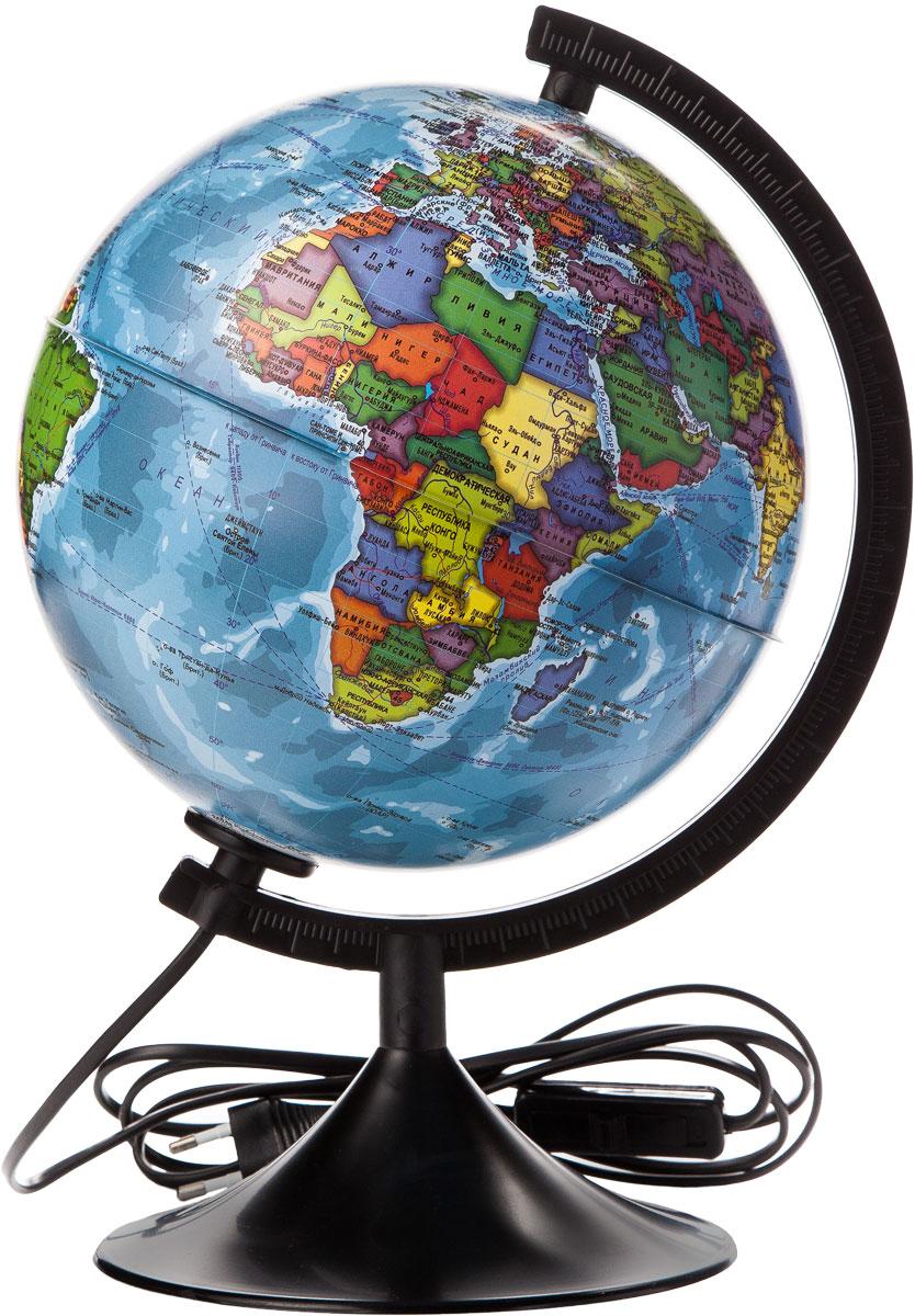 Globen Глобус Земли политический с подсветкой диаметр 210 мм К012100010К012100010Глобус - уменьшенная и понятная, даже детям, модель земного шара, помогает в развитии пространственного воображения и формирования правильного мировосприятия подрастающего поколения. Глобусы Globen изготавливаются из высококачественных материалов и являются отличным наглядным пособием для школьников и студентов.