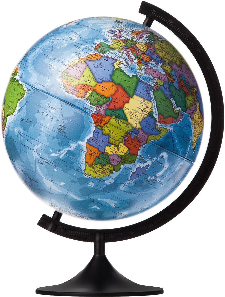 Globen Глобус Земли политический диаметр 320 ммFS-00897Глобус - уменьшенная и понятная, даже детям, модель земного шара, помогает в развитии пространственного воображения и формирования правильного мировосприятия подрастающего поколения.Глобусы Globen изготавливаются из высококачественных материалов и являются отличным наглядным пособием для школьников и студентов.