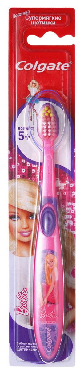 Colgate Зубная щетка Smiles Barbie Spiderman детская старше 5 лет5010777142037Зубная щетка для детей, у которых еще есть молочные и уже появились постоянные зубы. Разноуровневые щетинки тщательно очищают молочные и прорезывающиеся постоянные зубы. Удлиненные кончики эффективно очищают труднодоступные межзубные промежутки зубов.