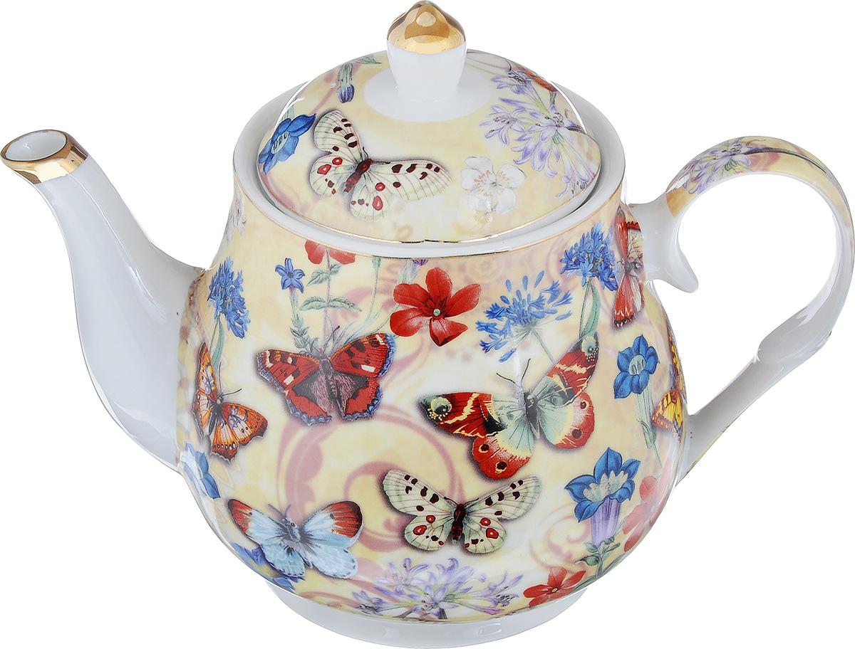 Чайник заварочный Loraine, 1,1 л. 24567VT-1520(SR)Заварочный чайник Loraine, изготовленный из высококачественной глазурованной керамики, поможет вам в приготовлении вкусного и ароматного чая, а также станет украшением вашей кухни. Изделие декорировано красочным рисунком в виде бабочек и золотистой эмалью. Яркий дизайн придает чайнику особый шарм, он удобен в использовании и понравится каждому. Такой заварочный чайник станет приятным и практичным подарком на любой праздник. Диаметр чайника (по верхнему краю): 9,5 см. Высота чайника (без учета крышки): 12,5 см. Высота (с учетом крышки): 17 см.