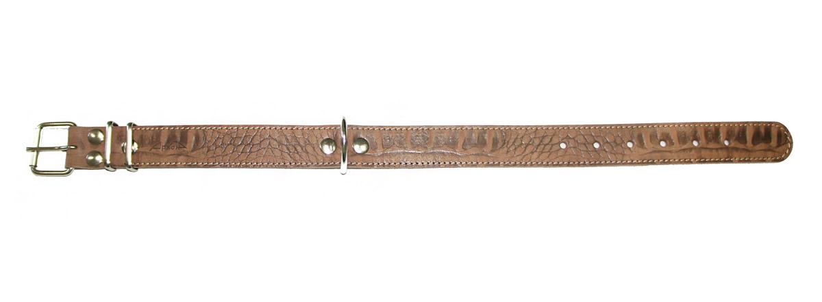 Ошейник Аркон, 35 мм, серия джунгли . од35/2код35/2кОшейники компании «Аркон» полностью отвечают требованиям современных мировых кинологических стандартов. Все ошейники выполнены из лучшей шорно-седельной кожи, устойчивой к влажности и перепадам температур. Клеевой слой, сверхпрочные нити, крепкие металлические элементы делают ошейники от компании «Аркон» еще более надежными и долговечными