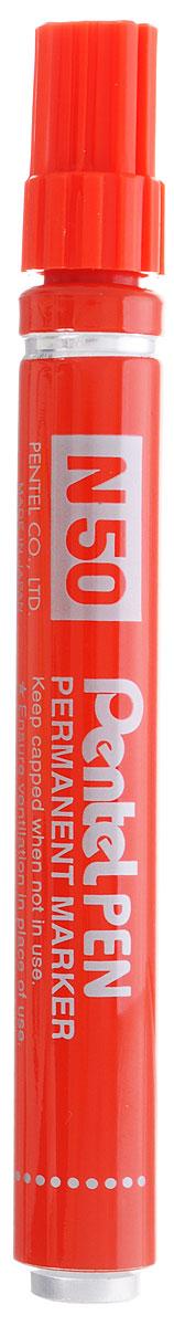 Pentel Маркер перманентный Pen N50 цвет красныйPN50-BМаркер перманентный Pentel Pen N50 в ударопрочном металлическом корпусе идеально пишет на различных поверхностях. Диаметр стержня 4,3 мм. Маркер заправлен перманентными быстросохнущими чернилами на спиртовой основе. Имеет капиллярную систему подачи чернил. Надписи, сделанные этим маркером, устойчивы к истиранию.
