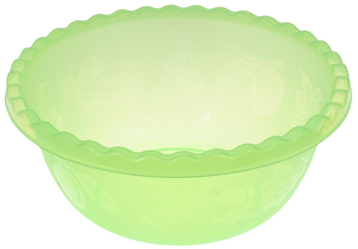 Миска Idea, цвет: салатовый, 8 лМ 1314Вместительная миска Idea изготовлена из высококачественного пищевого пластика. Изделие очень функциональное, оно пригодится на кухне для самых разнообразных нужд: в качестве салатника, миски, тарелки. Стенки изделия оформлены изображением фруктов. Диаметр миски по верхнему краю: 33 см. Объем: 8 л.