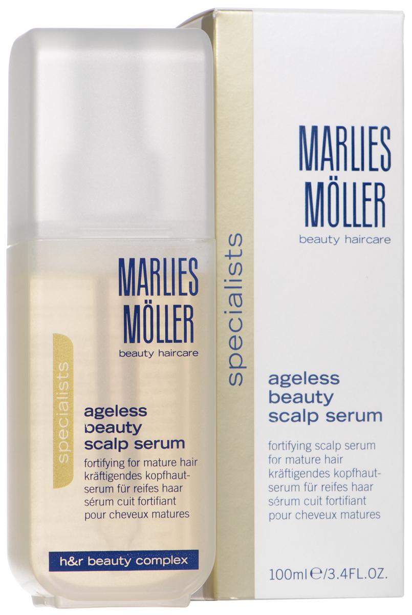 Marlies Moller Сыворотка Ageless Beauty, для укрепления корней и защиты волос, 100 млБ33041_шампунь-барбарис и липа, скраб -черная смородинаИнтенсивная сыворотка рекомендуется для истонченных волос. Содержит повышенную концентрацию эксклюзивного Фито-Клеточного комплекса, который ускоряет процесс роста здоровых волос. Стимулирует клеточную функцию корней волос, питает, наполняет их дополнительной энергией. Таким образом, усиливаются процессы регенерации и роста волос. Сыворотка стимулирует рост здоровых волос. Защищает от УФ-лучей. Интенсивно увлажняет.Ежедневно с помощью пипетки нанесите 5-6 капель сыворотки на сухую или влажную кожу головы. Слегка помассируйте. Не смывайте. Курсом.