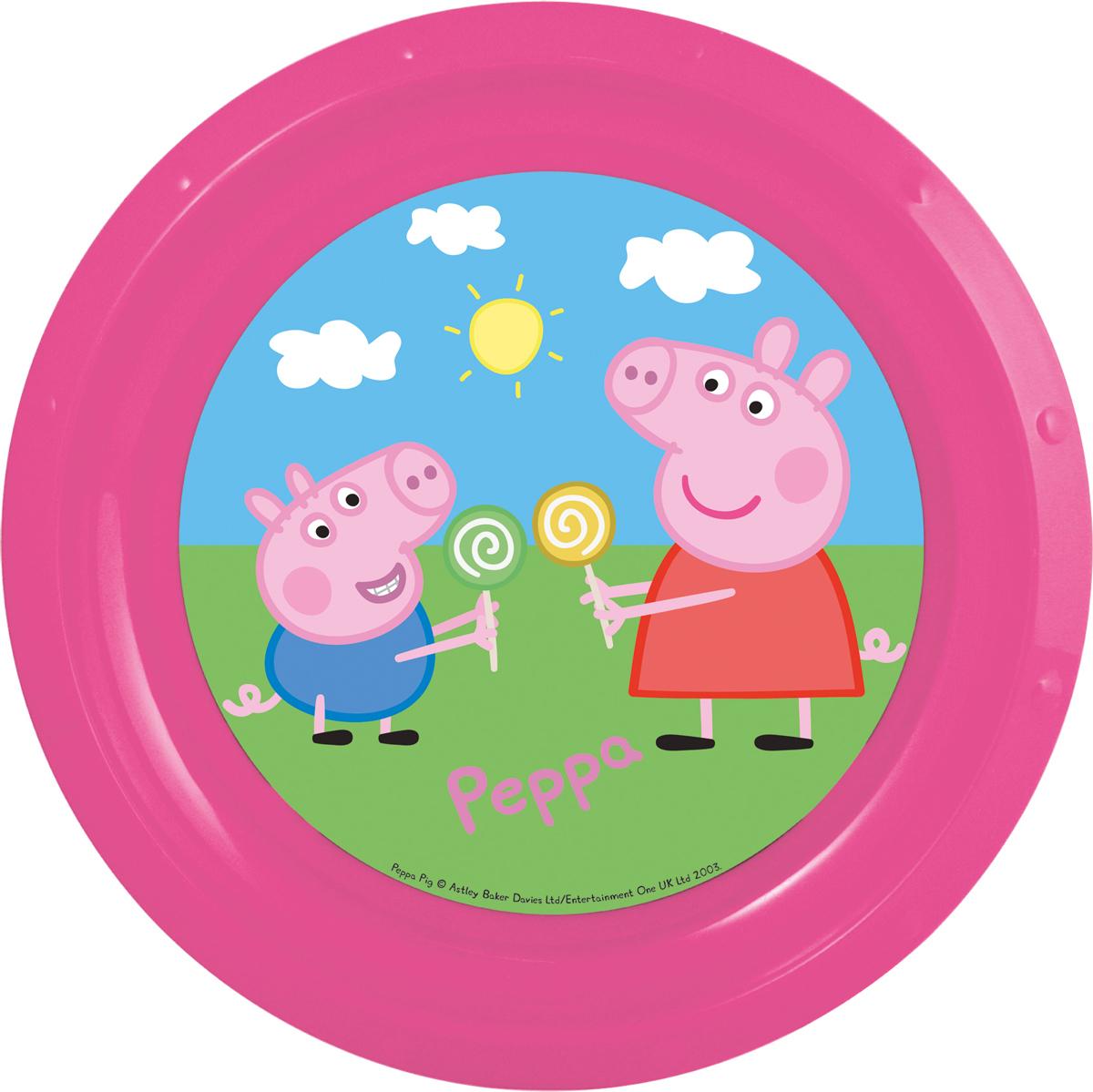 Peppa Pig Тарелка детская Свинка Пеппа52812Тарелка детская Свинка Пеппа диаметром 21,5 см.