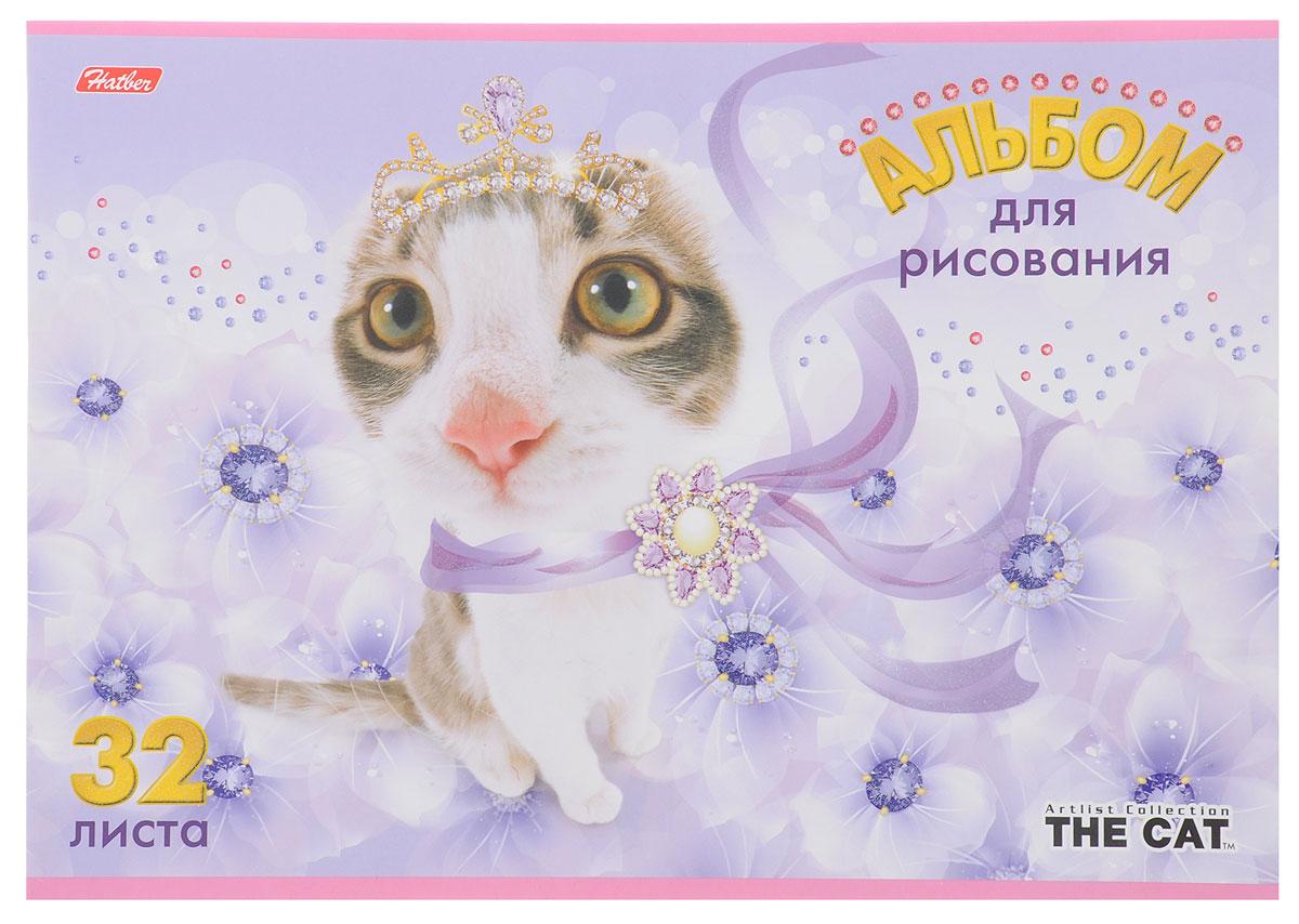 Hatber Альбом для рисования The Cat 32 листа цвет сиреневый1628_листочки золотыеАльбом для рисования Hatber The Cat порадует маленького художника и вдохновит его на творчество. Альбом изготовлен из белоснежной бумаги с яркой обложкой из плотного картона, оформленной изображением кошки. Внутренний блок альбома, соединенный металлическими скрепками, состоит из 32 листов. Высокое качество бумаги позволяет рисовать в альбоме карандашами, фломастерами, акварельными и гуашевыми красками.