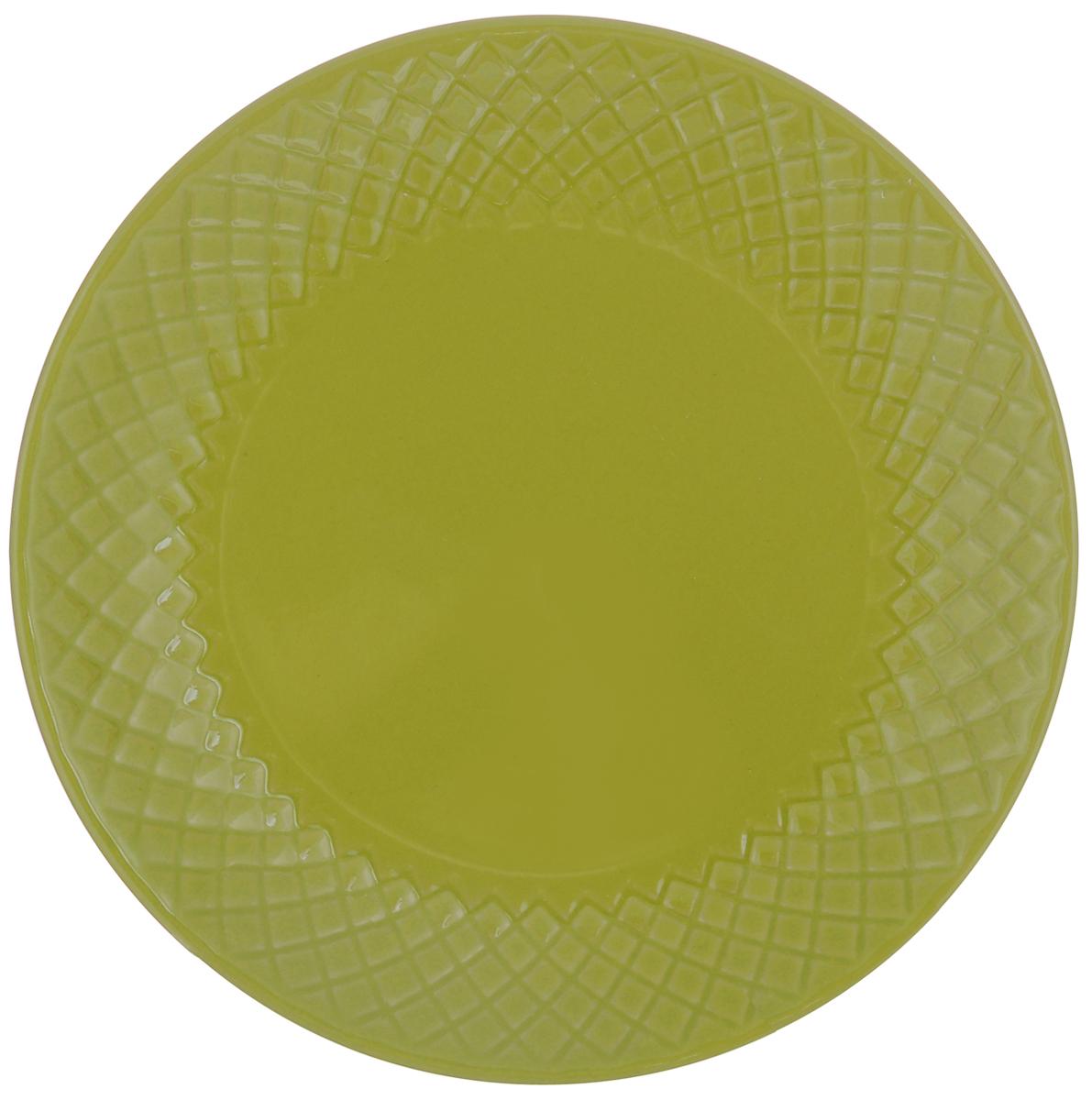 Тарелка обеденная Walmer Amber, цвет: зеленый, диаметр 20 см115510Тарелка обеденная Walmer Amber, изготовленная из высококачественной керамики, имеет изысканный внешний вид. Яркий дизайн придется по вкусу и ценителям классики, и тем, кто предпочитает утонченность. Тарелка Walmer Amber идеально подойдет для сервировки стола и станет отличным подарком к любому празднику.Диаметр (по верхнему краю): 20 см.