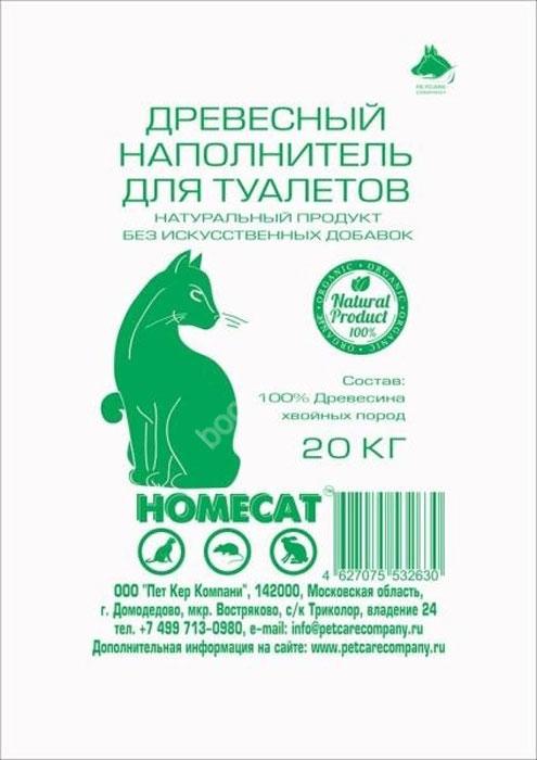 HOMECAT Древесный наполнитель мелкие гранулы 20 кг мешок56247