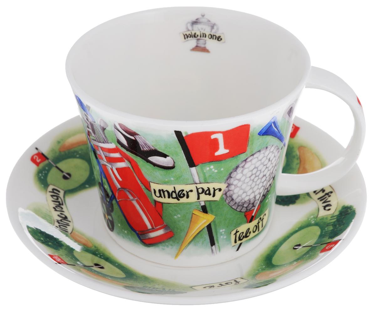 Чайная пара Roy Kirkham Гольф, 2 предметаXGOLF1110Чайная пара Roy Kirkham Гольф состоит из чашки и блюдца, изготовленных из тонкостенного костяного фарфора высшего качества, отличающегося необыкновенной прочностью и небольшим весом. Изделия оформлены цветным рисунком. Яркий дизайн, несомненно, придется вам по вкусу. Чайная пара Roy Kirkham Гольф украсит ваш кухонный стол, а также станет замечательным подарком к любому празднику. Объем чашки: 500 мл. Диаметр чашки по верхнему краю: 10,5 см. Высота чашки: 8,5 см. Диаметр блюдца: 17 см. Высота блюдца: 2,5 см.