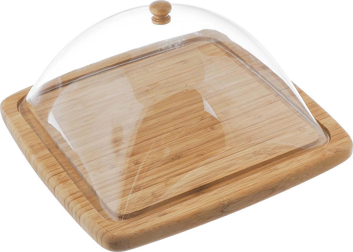 Сырница House & Holder, 30 х 30 смYG11-0181Сырница House & Holder состоит из подноса и прозрачной пластиковой крышки. Она предназначена для удобного хранения и красивой сервировки различных сортов сыра, а также других продуктов. Поднос изготовлен из бамбука и имеет специальные выемки, благодаря которым крышка легко на него устанавливается. Он может использоваться как для хранения и сервировки сыра, так и для нарезания продуктов. Сырница House & Holder станет незаменимым помощником на вашей кухне. Размер подноса: 30 х 30 х 2 см. Размер крышки: 25,5 х 26 х 13 см.