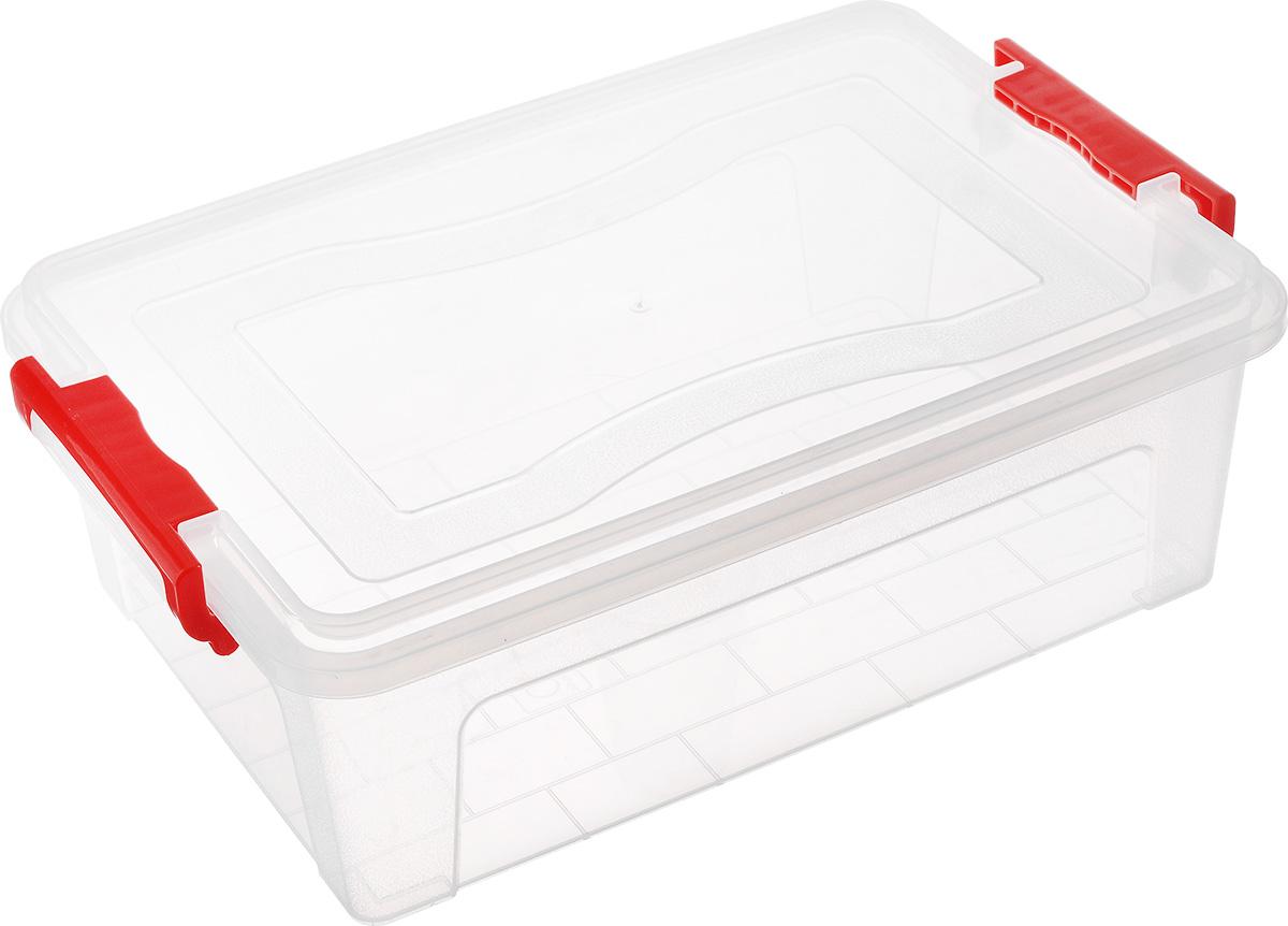 Контейнер для хранения Idea, прямоугольный, цвет: прозрачный, красный, 10,5 лUP210DFКонтейнер для хранения Idea выполнен из высококачественного полипропилена. Контейнер снабжен двумя пластиковыми фиксаторами по бокам, придающими дополнительную надежность закрывания крышки. Вместительный контейнер позволит сохранить различные нужные вещи в порядке, а герметичная крышка предотвратит случайное открывание, защитит содержимое от пыли и грязи.