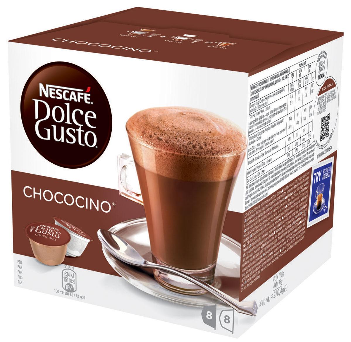 Nescafe Dolce Gusto Chococino горячий шоколад в капсулах, 16 шт 5219918