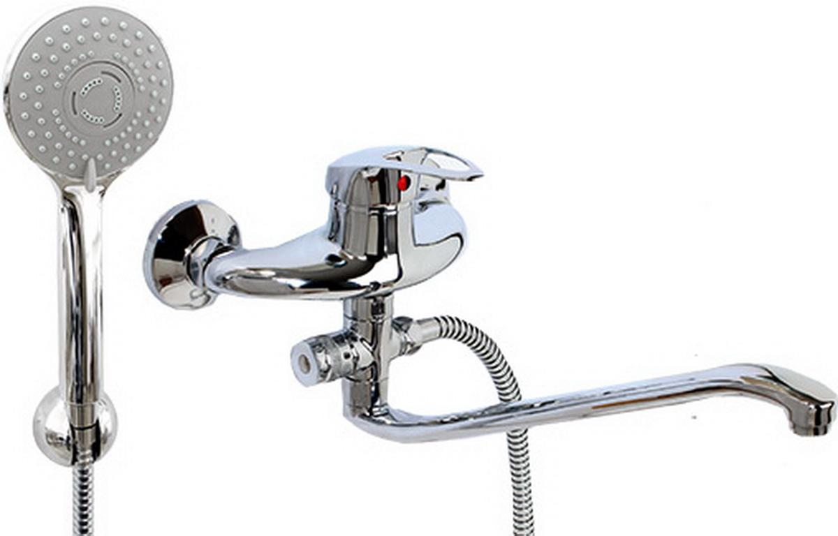 Argo смеситель для ванны и умывальника Lux Olio, d-40, картриджный, S образный излив 295 мм22915Смеситель для ванны и умывальника 40-s35l/d olio картридж d-40 мм short-size, крепеж эксцентрик усиленный 3/4 х 1/2 + прокладка-фильтр аэратор м24х1 наружная резьба only plast 10 - 13 л/мин. при 0,3 МПа покрытие никель / хром комплектация душевой шланг 150 см, оплетка - хромированная нержавеющая сталь, двойной замок, 1/2 душевая лейка Lux трехпозиционная: душ, массаж, душ/массаж кронштейн двухпозиционный материал основа латунь