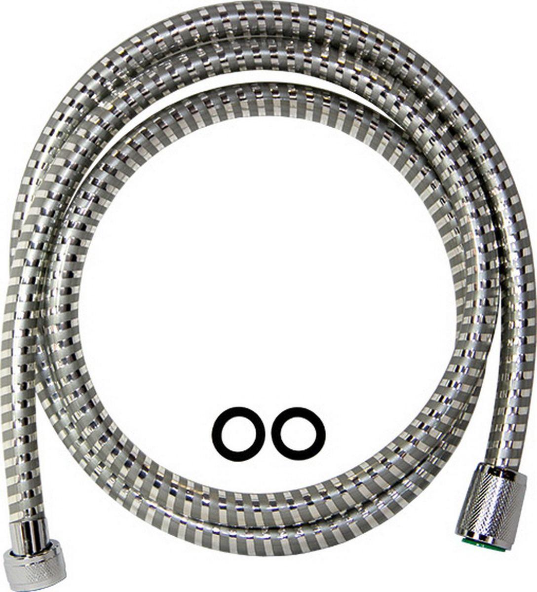 Шланг для душа Argo Еspiroflex, цвет: серый, 165 см34549Универсальный гибкий шланг для душа Argo Еspiroflex с внешней оболочкой из нержавеющей стали, сочетает в себе отличные эксплуатационные характеристики и приятный дизайн. Прочный и надежный шланг эргономичен и прост в монтаже, удобен в использовании. Длина: 165 см. Выходы шлага: 1/2. Тип фитинга: гайка – конус. Тип соединения оплетки: двойной замок.