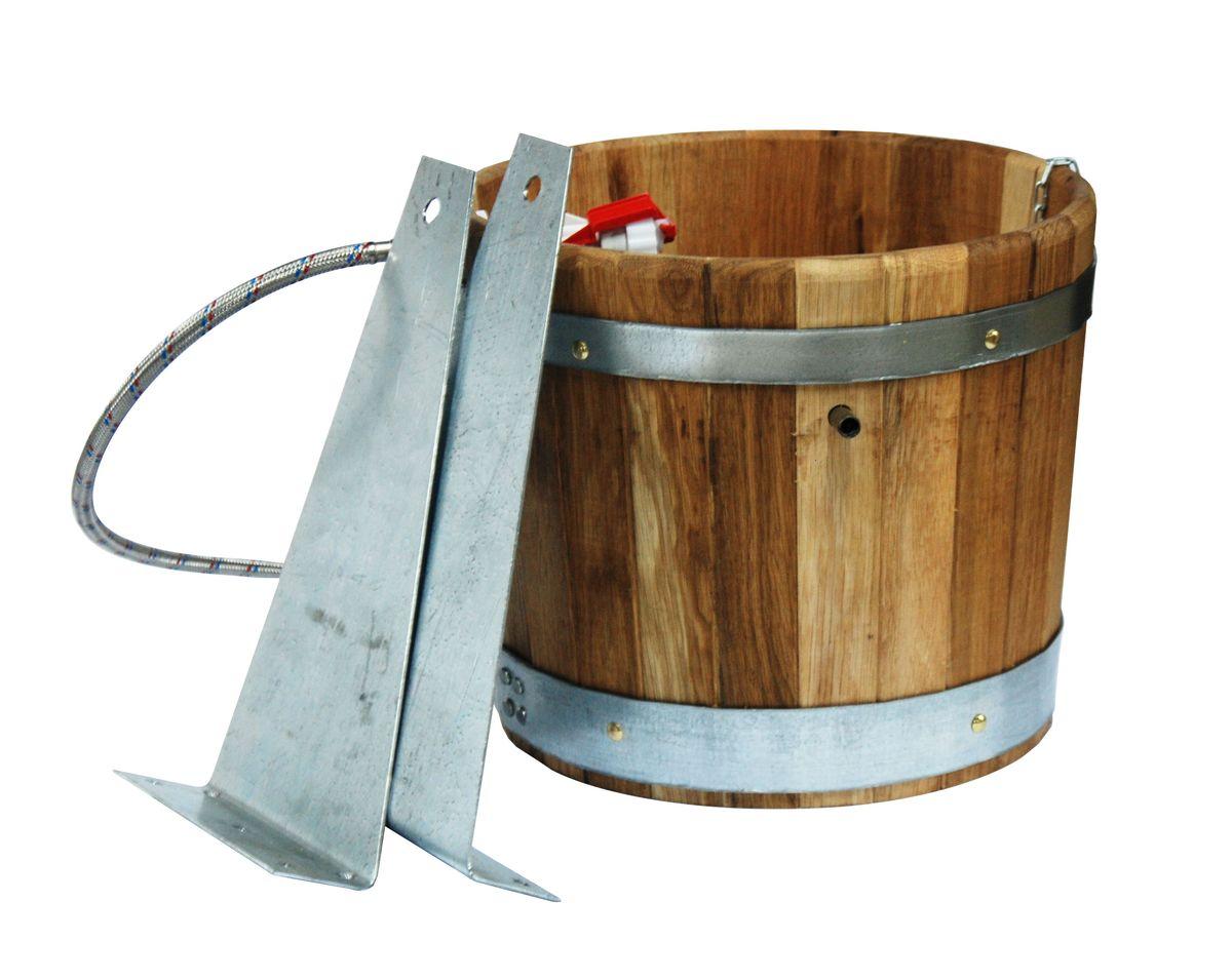 Proffi Home Обливное устройство 20 л (дуб).PS0088Обливочное устройство выполнено из высококачественного дерева (дуб). Эксплуатация бондарных изделий. Перед первым использованием бондарное изделие рекомендуется подготовить. Для этого нужно наполнить изделие холодной водой и оставить наполненным на 2-3 часа. Затем необходимо воду слить, обдать изделие сначала горячей, потом холодной водой. Не рекомендуется оставлять бондарные изделия около нагревательных приборов, а также под длительным воздействием прямых солнечных лучей. С момента начала использования бондарного изделия не рекомендуется оставлять его без воды на срок более 1 недели. Но и продолжительное время хранить в таких изделиях воду тоже не следует. После каждого использования необходимо вымыть и ошпарить изделие кипятком. В качестве моющих средств желательно использовать пищевую соду либо раствор горчичного порошка. Правильное обращение с бондарными изделиями позволит надолго сохранить их эксплуатационные свойства и продлить срок использования! ...