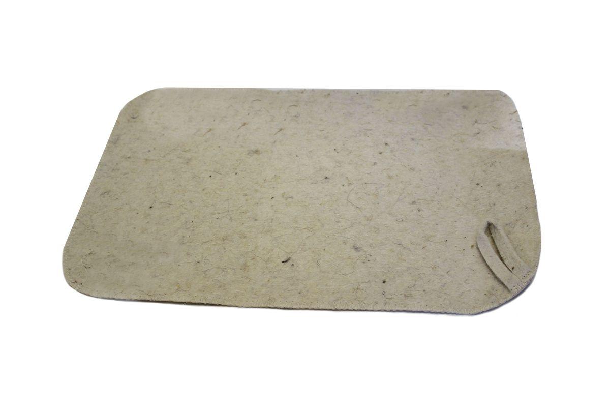 Коврик для бани и сауны Proffi Sauna, цвет: молочный, 47 х 31 смPS0179Коврик для бани и сауны Proffi Sauna изготовлен из 90% шерсти, 10% лавсана. Изделие защитит вас от высоких температур при контакте с горячей лавкой в парилке. Коврик - это незаменимый аксессуар для любителей попариться в русской бане и для тех, кто предпочитает сухой жар финской бани. На коврике имеется петелька, с помощью которой его можно повесить на крючок в предбаннике. Размер коврика: 47 х 31 см.