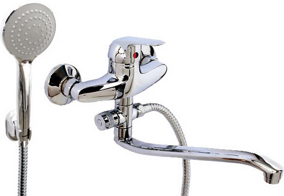 Argo смеситель для ванны и умывальника Echo, d-40, картриджный, S образный излив 295 мм  argo смеситель для ванны echo d 35