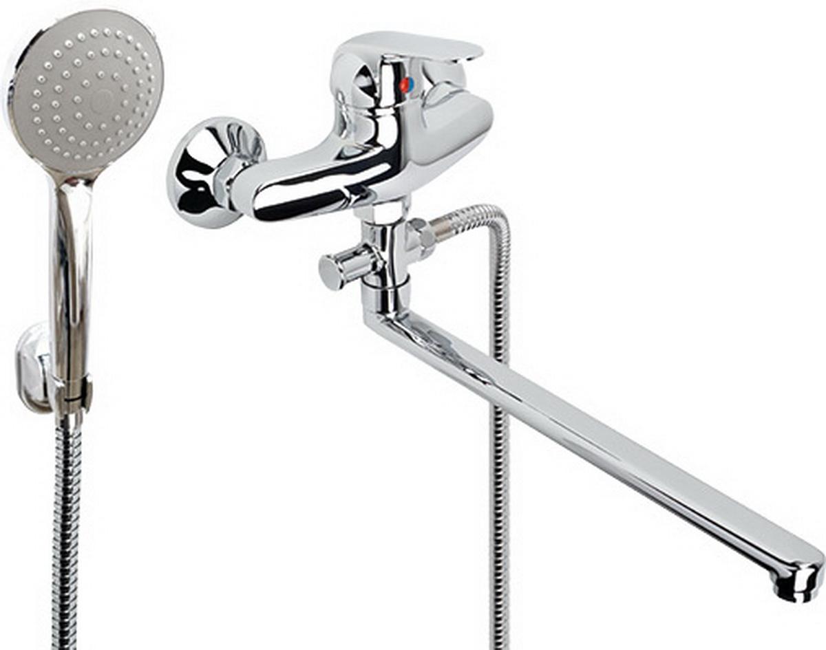 Argo смеситель для ванны и умывальника Echo, d-40, штоковый, L образный излив 325 мм  argo смеситель для ванны echo d 35