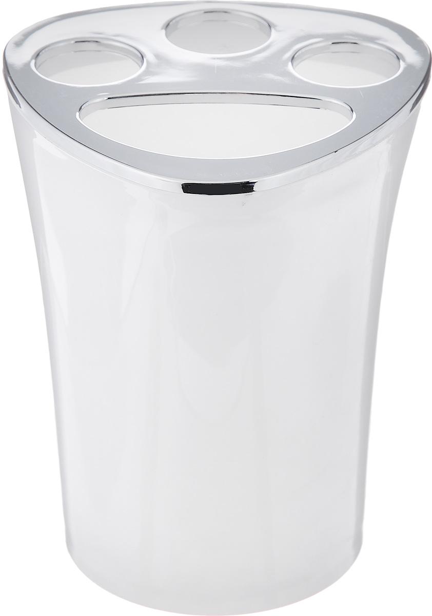Стакан для зубных щеток Vanstore Wiki White, цвет: белый, высота 10 см19201Оригинальный стакан для зубных щеток Vanstore Wiki White изготовлен из пластика и отлично подойдет для вашей ванной комнаты. Стильный дизайн изделия притягивает взгляд и прекрасно подойдет к интерьеру в ванной комнаты.Размер стакана: 8 х 8 х 10 см.
