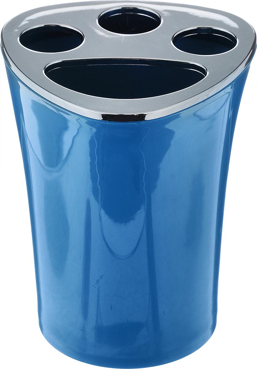 Стакан для зубных щеток Vanstore Wiki Blue, цвет: синий, высота 10 см356-02Оригинальный стакан для зубных щеток Vanstore Wiki Blue изготовлен из пластика и отлично подойдет для вашей ванной комнаты. Стильный дизайн изделия притягивает взгляд и прекрасно подойдет к интерьеру в ванной комнаты. Размер стакана: 8 х 8 х 10 см.