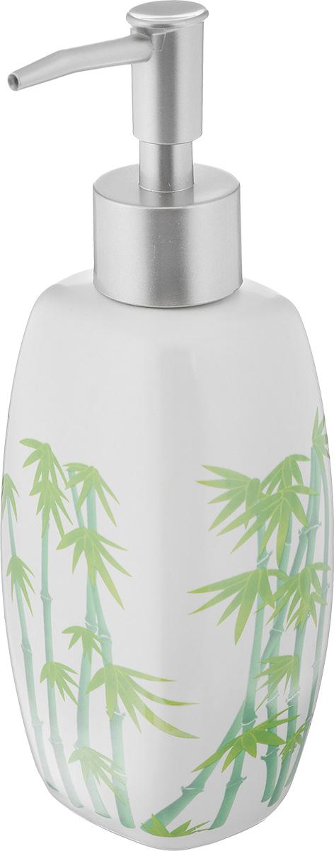 Дозатор для жидкого мыла Vanstore Green Bamboo, 320 мл301-03Дозатор для жидкого мыла Vanstore Green Bamboo, изготовленный из высококачественной керамики и пластика, отлично подойдет для вашей ванной комнаты. Такой аксессуар очень удобен в использовании, достаточно лишь перелить жидкое мыло в дозатор, а когда необходимо использование мыла, легким нажатием выдавить нужное количество. Дозатор для жидкого мыла Vanstore Green Bamboo создаст особую атмосферу уюта и максимального комфорта в ванной. Размер дозатора: 7 х 5,5 см. Высота дозатора: 19 см.