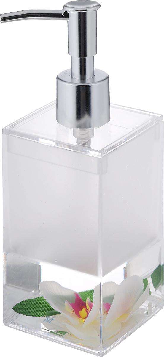 Дозатор для жидкого мыла Vanstore Lotus, 300 мл308-03Дозатор для жидкого мыла Vanstore Lotus, изготовленный из прозрачного пластика, отлично подойдет для вашей ванной комнаты. Дозатор имеет двойные стенки, между которыми находится нетоксичная жидкость с искусственными цветком и листком. Такой аксессуар очень удобен в использовании, достаточно лишь перелить жидкое мыло в дозатор, а когда необходимо использование мыла, легким нажатием выдавить нужное количество. Дозатор для жидкого мыла Vanstore Lotus создаст особую атмосферу уюта и максимального комфорта в ванной. Состав: пластик, нетоксичная жидкость, текстиль. Размер дозатора: 6,5 х 6,5 см. Высота дозатора: 19,5 см.