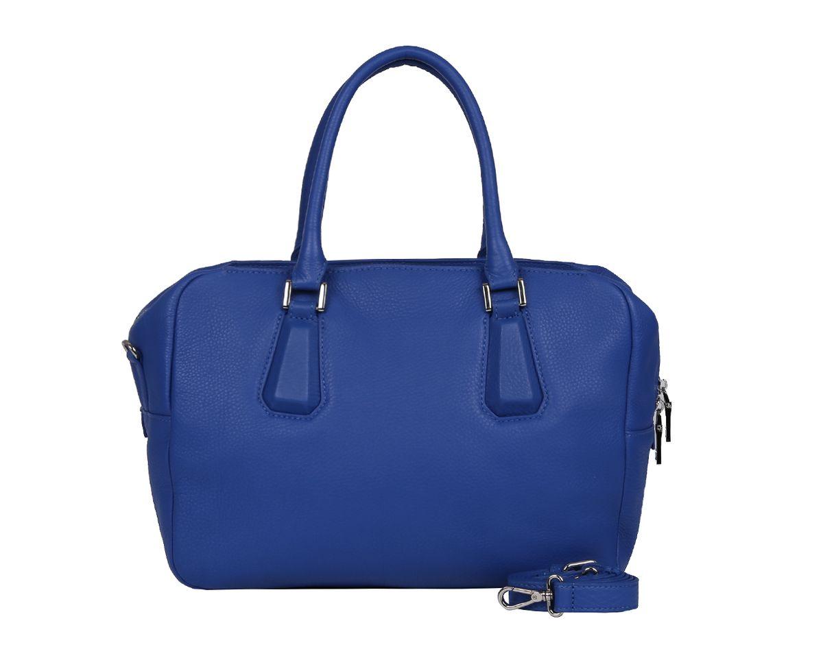 Сумка женская Palio, цвет: синий. 14290AL-89514290AL-895 blueСтильная женская сумка Palio выполнена из натуральной кожи, оформлена металлической фурнитурой. Изделие содержит одно отделение, которое закрывается на молнию. Внутри расположены: два накладных кармашка для мелочей и врезной карман на молнии. Сумка оснащена двумя практичными ручками и съемным плечевым ремнем регулируемой длины. Дно сумки дополнено металлическими ножками. Оригинальный аксессуар позволит вам завершить образ и быть неотразимой.