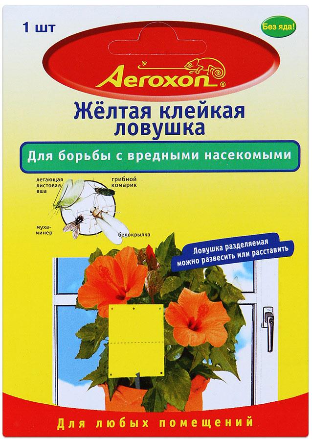 Клейкая ловушка Aeroxon для борьбы с вредными насекомыми, цвет: желтый19201Клейкая ловушка Aeroxon эффективно борется с белокрылкой, грибным комариком, летающей листовой вошью, мухой-минером, трипсами и другими насекомыми. Готова к применению, не содержит ядов, со специальной приманивающей окраской. Рекомендуется для применения на комнатных, балконных растениях и в теплицах. Специальный клей без запаха и отравляющих примесей прочно удерживает пойманных насекомых. Нападение насекомых заметно снижается. Клей не высыхает и не стекает даже при высоких комнатных температурах. Следует пользоваться ловушками только в закрытых помещениях, чтобы не навредить таким насекомым, как пчелы и майские жуки.Изделие можно как подвесить на растение с помощью проволочки, так и воткнуть в землю, предварительно насадив на ленту металлический стержень.Товар сертифицирован.