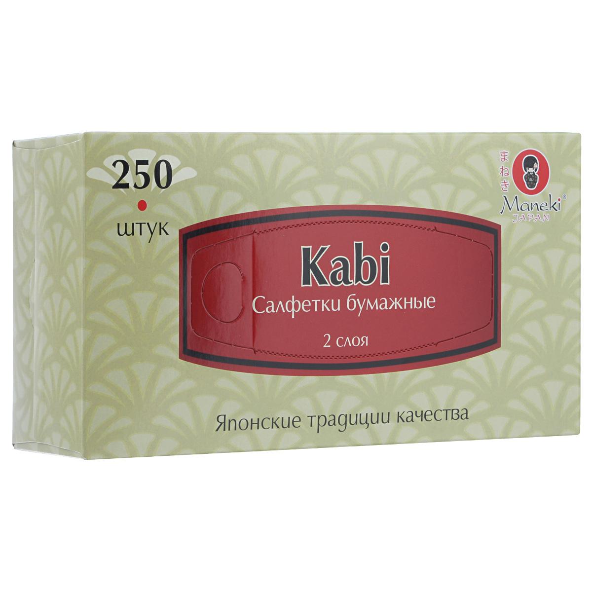 Салфетки бумажные Maneki Kabi, двухслойные, 21 х 19,6 см, 250 штFT371Универсальные двухслойные салфетки Maneki Kabi выполнены из высококачественного целлюлозного сырья. Салфетки подходят для косметического, санитарно-гигиенического и хозяйственного назначения. Изделия обладают хорошими впитывающими свойствами. Салфетки имеют мягкую и нежную текстуру. При извлечении из коробки салфетки не рвутся. Размер салфеток: 21 х 19,6 см.