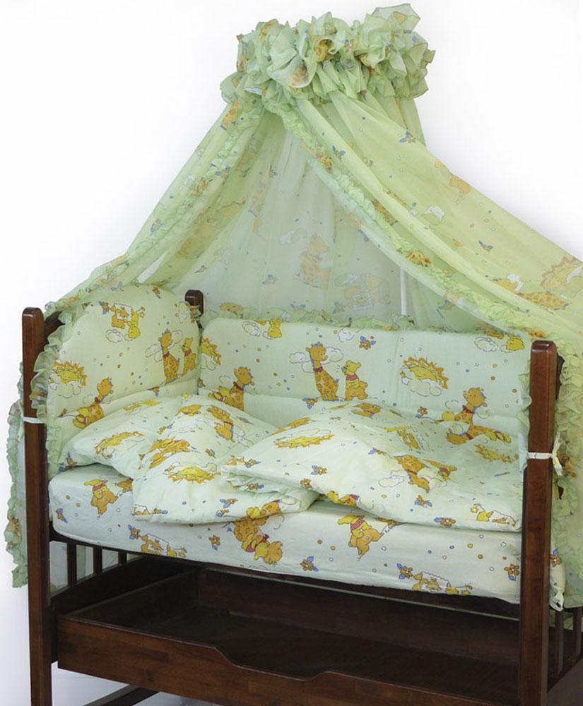 Топотушки Комплект белья для новорожденных Жираф Вилли цвет зеленый 3 предмета