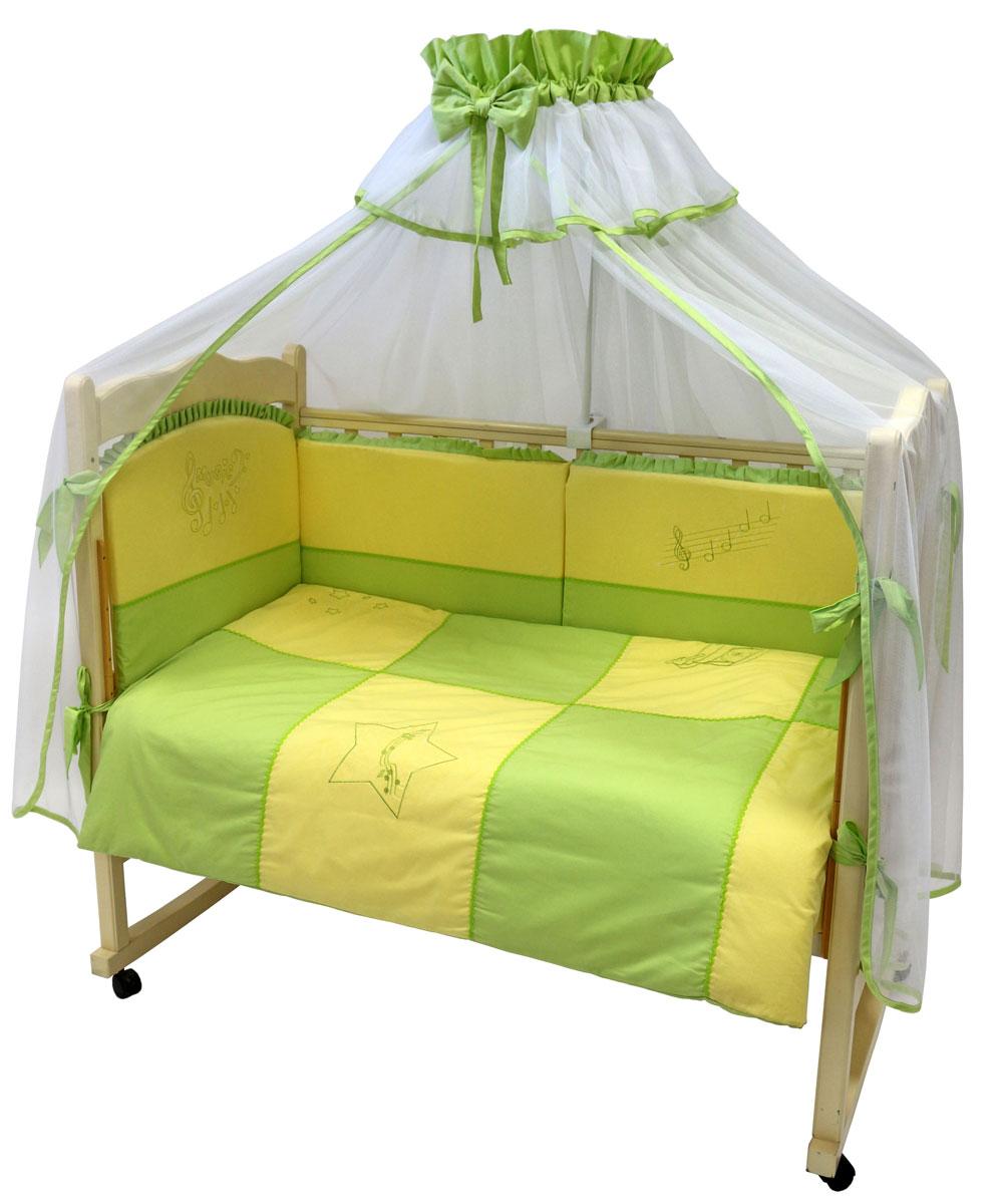 Топотушки Комплект белья для новорожденных До-ре-ми цвет салатовый желтый 3 предмета