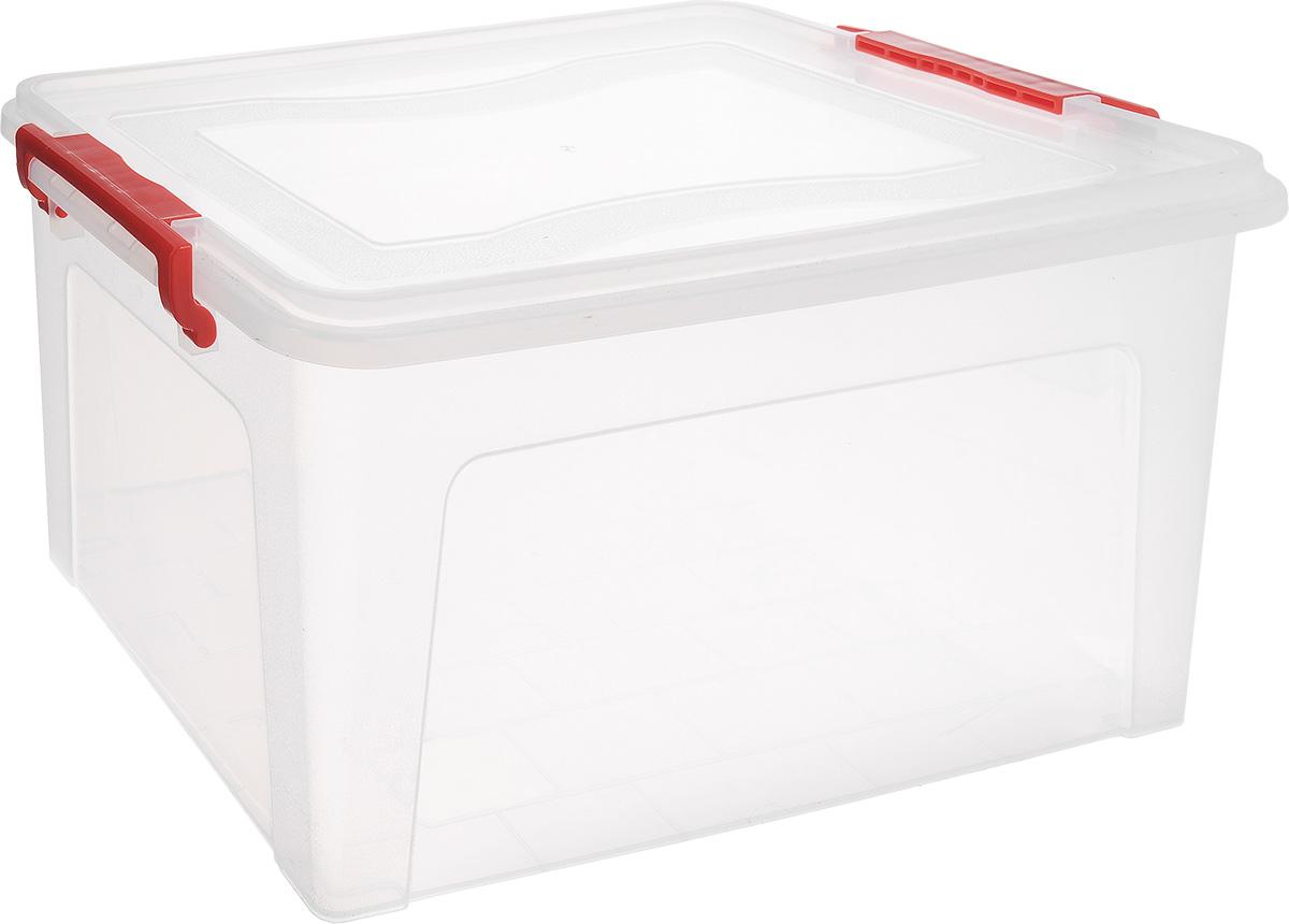 Контейнер для хранения Idea, прямоугольный, цвет: прозрачный, красный, 25 лМ 2867Контейнер Idea выполнен из полипропилена, предназначен для хранения игрушек, инструментов, швейных принадлежностей, бумаг и многого другого. Контейнер снабжен эргономичной плотно закрывающейся крышкой со специальными боковыми фиксаторами.