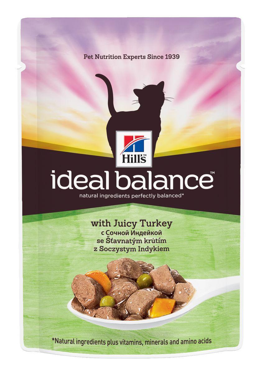 """Консервы для кошек Hill's """"Ideal Balance"""", с сочной индейкой, 85 г 10024"""