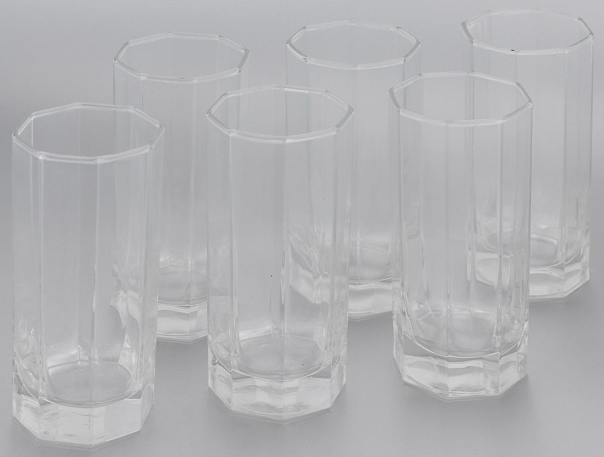 Набор стаканов Luminarc Octime, 330 мл, 6 штVT-1520(SR)Набор Luminarc Octime состоит из шести граненых стаканов. Изделия выполнены из натрий-кальций-силикатного стекла. Они предназначены для подачи сока, воды, компота и другихнапитков. Стаканы станут идеальным украшением праздничного стола и отличным подарком к любомупразднику. Можно мыть в посудомоечной машине.Размер стакана (по верхнему краю): 6,5 х 6,5 см. Высота стакана: 14,5 см.