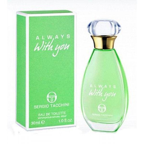 Sergio Tacchini Always With You Woman Туалетная вода, 50 мл1301210Древесные, цитрусовые. Бергамот, лимон, фруктовые ноты, яблоко, кедр, мускус, сандаловое дерево, ландыш, роза.