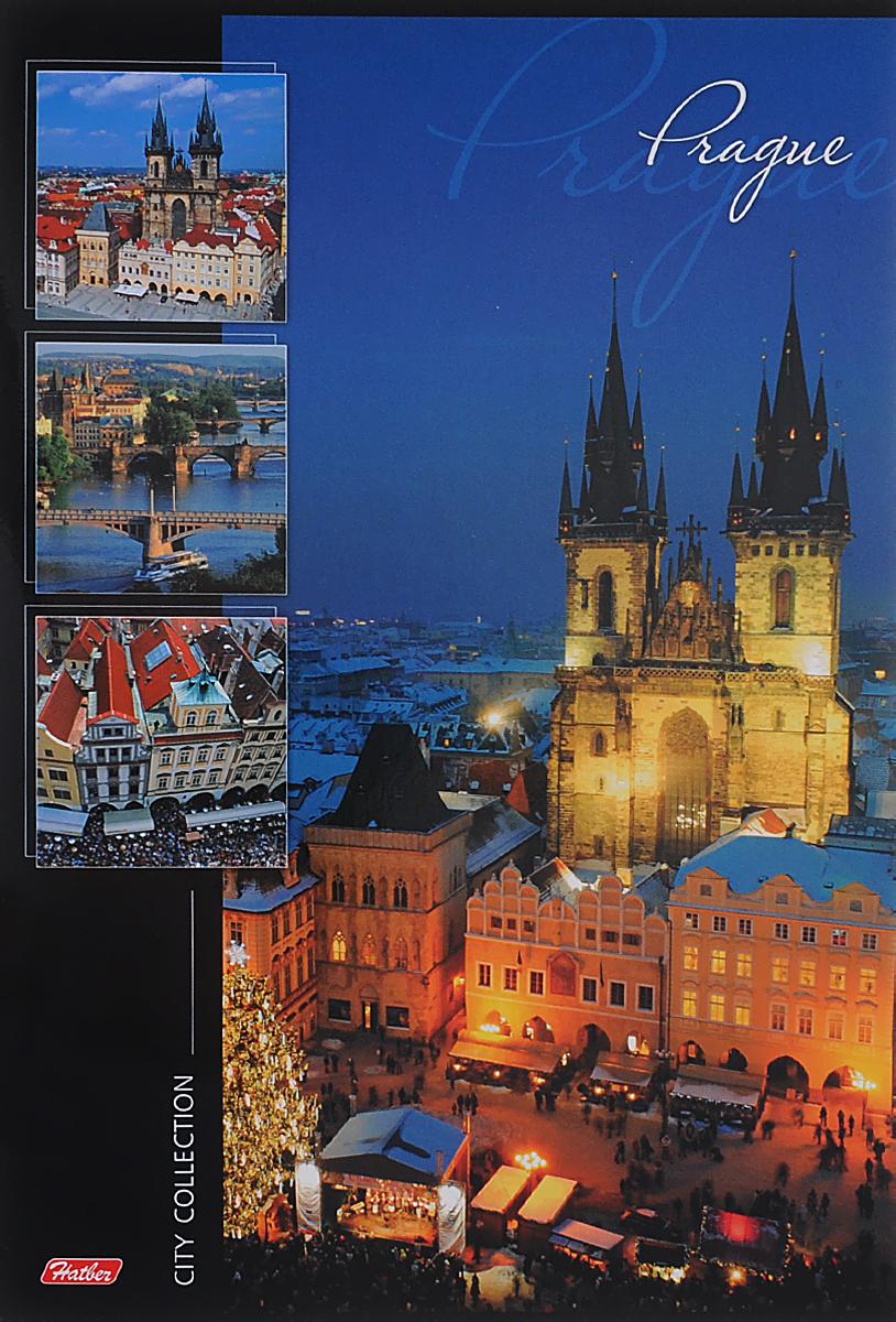 Hatber Тетрадь Prague 96 листов в линейку72523WDТетрадь Hatber Prague отлично подойдет для занятий школьнику или студенту или для различных записей.Обложка, выполненная из плотного картона, позволит сохранить тетрадь в аккуратном состоянии на протяжении всего времени использования. Лицевая сторона оформлена красочным изображением города Прага.Внутренний блок тетради, соединенный металлическими скобами, состоит из 96 листов белой бумаги в голубую линейку без полей.
