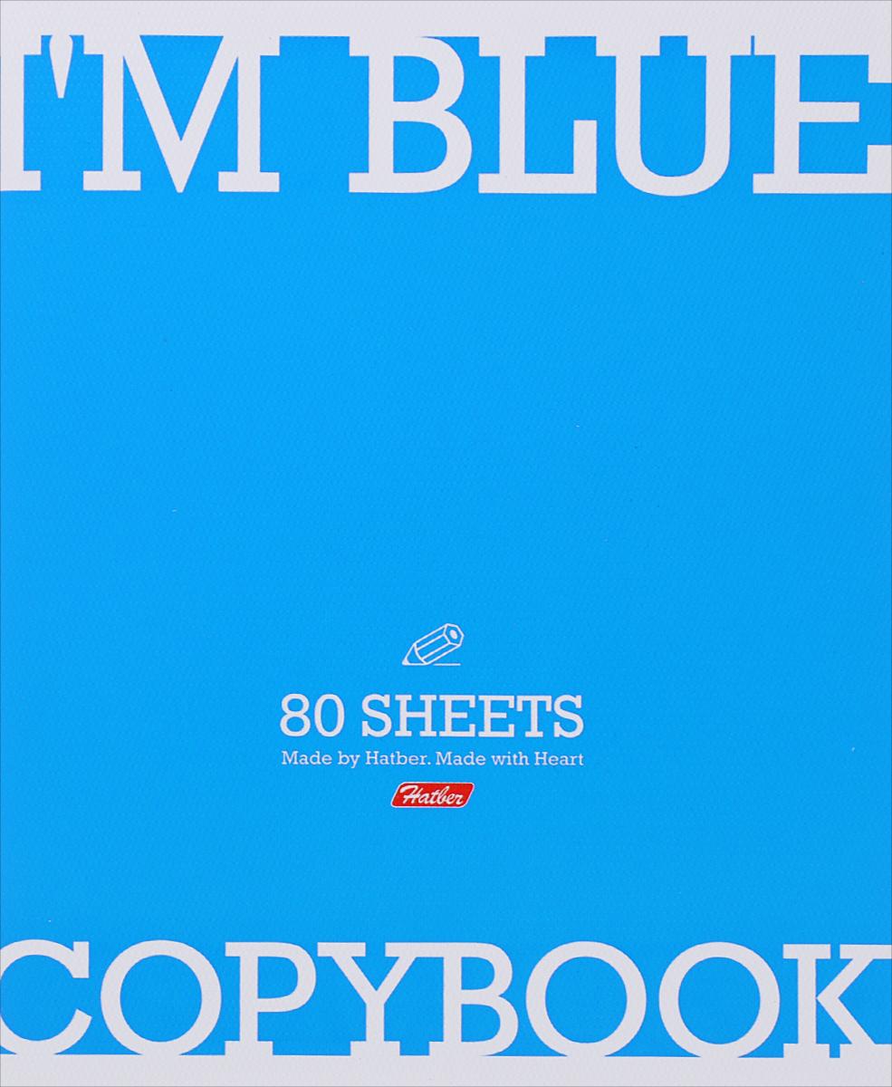 Hatber Тетрадь Im Blue 80 листов в клетку80Т5тB1_13348Тетрадь Hatber Im Blue обязательно подойдет как школьнику, так и студенту. Обложка тетради выполнена из картона голубого цвета. Внутренний блок состоит из 80 листов белой бумаги. Стандартная линовка в голубую клетку с полями. Листы тетради соединены металлическими скобами.