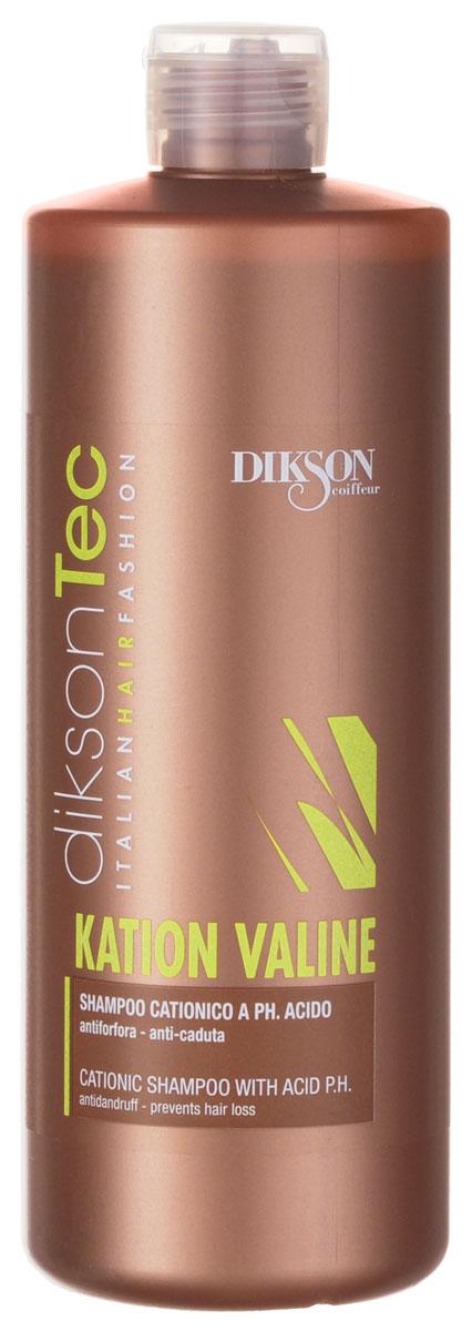 Dikson Катионовый шампунь (бесщелочной) Kation Valine Shampooing 500 млБ33041_шампунь-барбарис и липа, скраб -черная смородинаDikson Kation Valine Shampooing предназначен для мягкого очищения волос и кожи головы сразу после окрашивания. Благодаря шампуню прекращается вялотекущее окисление – побочное следствие любого вида химической обработки волос. Данный продукт вымывает минералы и соли, не изменяя цвет окрашенных волос. Подходит для волос всех типов, в том числе тонких, ослабленных и детских.
