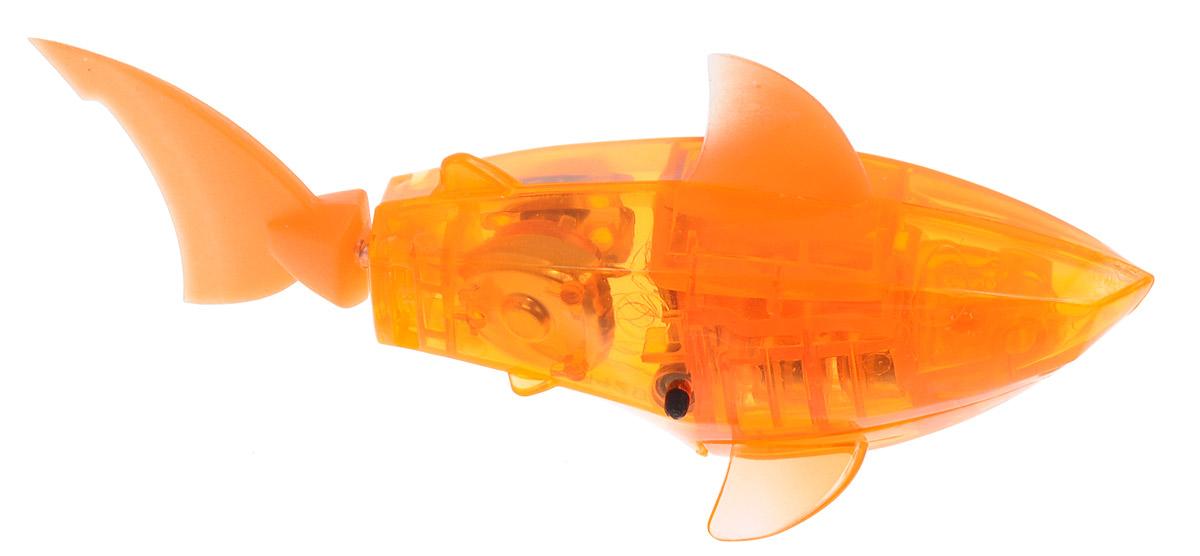 Hexbug Микро-робот Aquabot Shark с аквариумом цвет оранжевый 460-2914_оранжевый