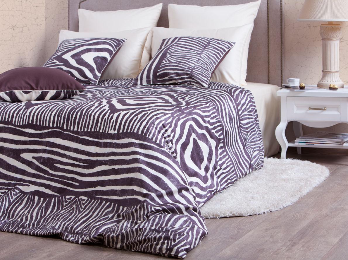 """Комплект белья Хлопковый Край """"Кения"""", 1,5-спальный, наволочки 70x70, цвет: слоновая кость 879-1"""