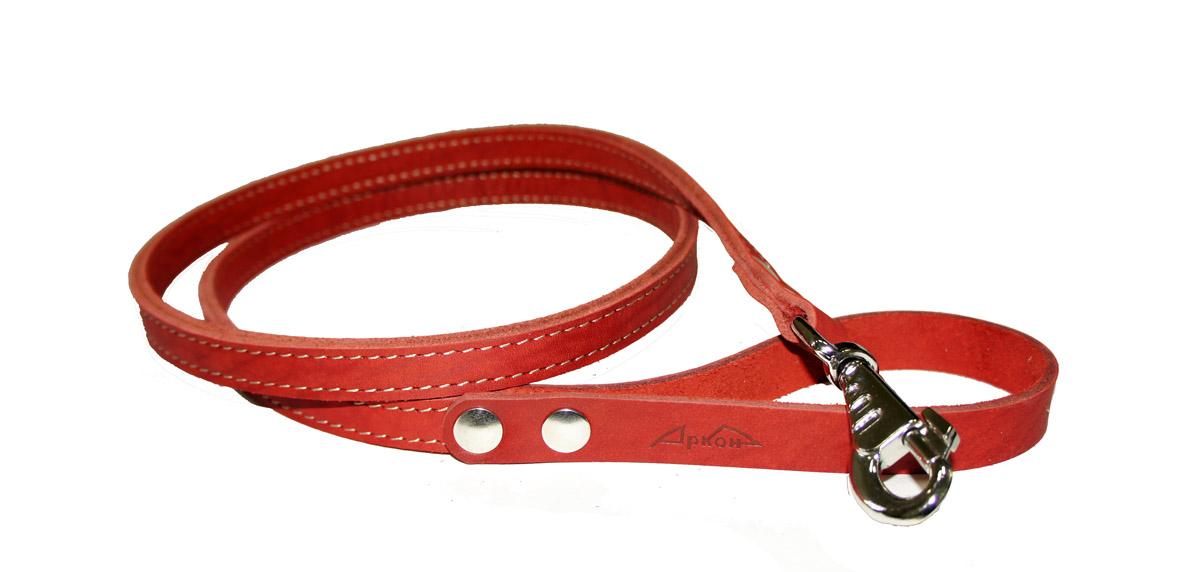 Поводок для собак Аркон Стандарт, цвет: красный, ширина 1,6 см, длина 140 смп16/2крПоводок для собак Аркон Стандарт изготовлен из высококачественной натуральной кожи. Карабин выполнен из легкого сверхпрочного сплава. Изделие отличается не только исключительной надежностью и удобством, но и привлекательным современным дизайном. Поводок - необходимый аксессуар для собаки. Ведь в опасных ситуациях именно он способен спасти жизнь вашему любимому питомцу. Иногда нужно ограничивать свободу своего четвероногого друга, чтобы защитить его или себя от неприятностей на прогулке. Длина поводка: 140 см. Ширина поводка: 1,6 см.