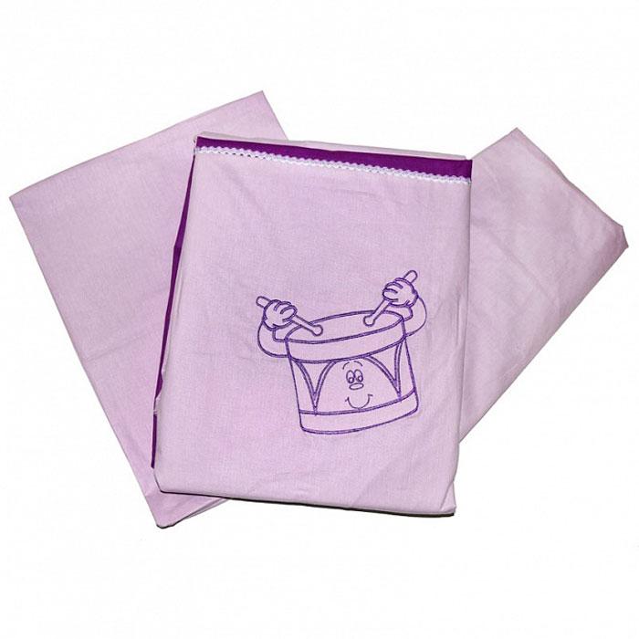 Топотушки Комплект белья для новорожденных До-ре-ми цвет сиреневый 3 предмета37490Комплект белья для новорожденных Топотушки До-ре-ми выполнен в нежных тонах и украшен вышивкой. Комплект белья До-ре-ми создаст комфорт и уют в кроватке малыша и обеспечит крепкий и здоровый сон, а современный дизайн и цветовые сочетания помогут ребенку адаптироваться в новом для него мире. Комплект белья для новорожденных Топотушки До-ре-ми хорошо впишется в интерьер как детской комнаты, так и спальни родителей. Цветовые и дизайнерские решения - плоды совместных трудов европейских дизайнеров и российских технологов - делают внешний вид комплекта роскошным и незабываемым. Качество материала обеспечивает легкость стирки и долговечность. Комплект включает в себя наволочку 60 см х 40 см, пододеяльник 147 см х 112 см, простыню на резинке 60 см х 120 см.