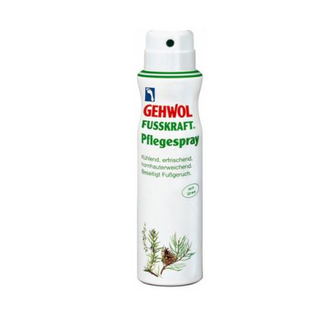 Gehwol Fusskraft Caring Foot Spray - Актив-спрей для ног 150 млFS-00897Актив-спрей Геволь Фусскрафт (Gehwol Fusskraft Caring Foot Spray) освежает, дезодорирует кожу ног и охлаждает, благодаря содержанию ментола. Натуральные эфирные масла розмарина и лаванды ухаживают за кожей ног и способствуют восстановлению.Благодаря эфирному маслу горной сосны и фарнезолу предотвращает возникновение грибковых инфекций. Фарнезол оказывает нормализующее воздействие на процесс потоотделения. Пантенол и бисаболол смягчают и питают кожу. Мочевина (Уреа) и лимонная кислота обеспечивают увлажнение, необходимое коже, и защищают от образования загрубевшей кожи, аллантоин оказывает тонизирующее воздействие, укрепляя стенки сосудов.