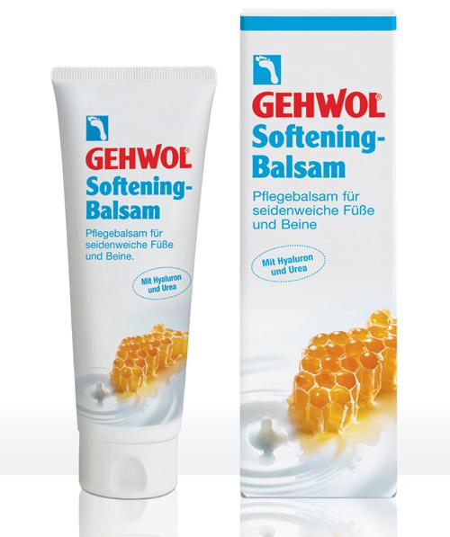 Gehwol Softening - Ухаживающий бальзам для ног 125 мл72523WDГеволь Ухаживающий бальзам интенсивно увлажняет кожу ног и стоп благодаря глубоко действующей гиалуроновой кислоте, экстрактам меда и молочными пептидам, придающими коже упругость, шелковистость и ухоженный вид. Благоприятно действующие на кожу липиды в комбинации с питательным маслом авокадо и гиалуроновой кислотой, произведенной по специальной биотехнологии, способствуют регенерации кожи и усиливают ее защитные свойства. Молочные протеины и экстракт меда оказывают эффективное увлажняющее и смягчающее действие, придавая коже эластичность и мягкость. Гиалуроновая кислота в сочетании с мочевиной удерживает влагу в глубоких слоях кожи, а также предотвращает появление загрубевшей кожи. Результат - шелковистая, гладкая и ухоженная кожа ног и стоп.