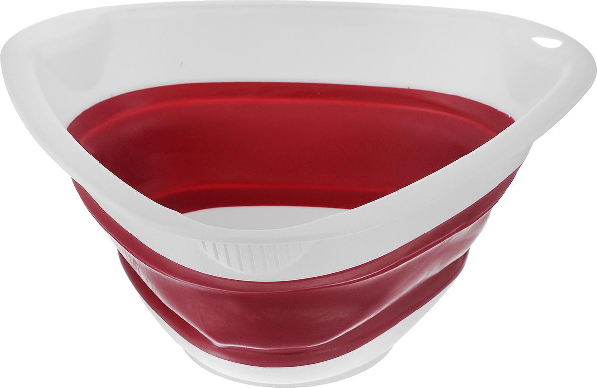 Миска складная Calve, цвет: красный, 27 x 26 x 4,5 смCL-4593_ красныйМиска складная Calve, изготовленная из высококачественного пищевого силикона и пластика, станет полезным приобретением для вашей кухни. Можно мыть в посудомоечной машине. Размер (в разложенном виде): 27 х 26 х 12 см. Размер (в сложенном виде): 27 х 26 х 4,5 см.