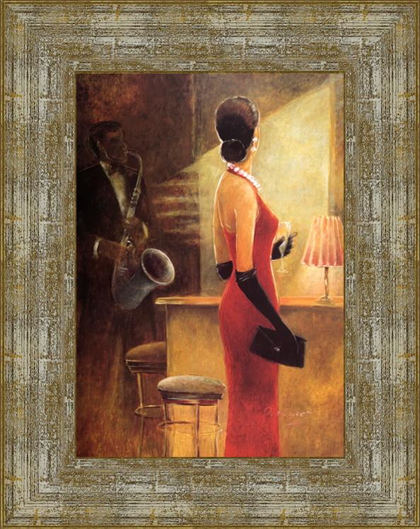 Джазовый коктейль (Dominguez )17x22 D3313-414095Художественная репродукция картины Dominguez Cocktail Jazz. Размер постера: 17 см х 22 см. Артикул:17x22 D3313-414095.