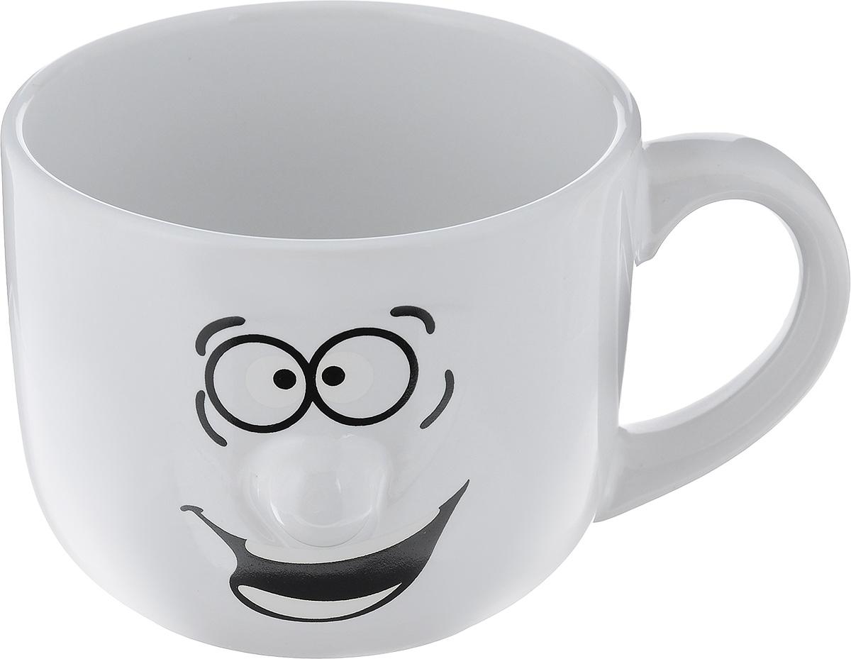 Кружка Walmer Smiley, цвет: белый, 400 млW06220040Кружка Walmer Smiley выполнена из керамики и оформлена изображением забавного смайлика. Она станет отличным дополнением к сервировке семейного стола и замечательным подарком для ваших родных и друзей. Диаметр кружки по верхнему краю: 10 см. Высота кружки: 8 см. Не рекомендуется применять абразивные моющие средства.