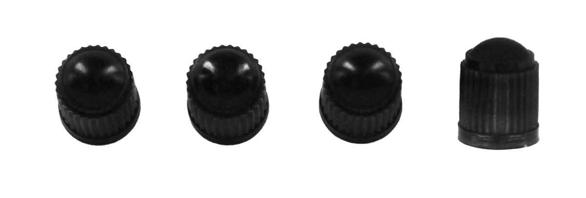 Набор черных пластиковых колпачков для ниппеля колеса МастерПроф
